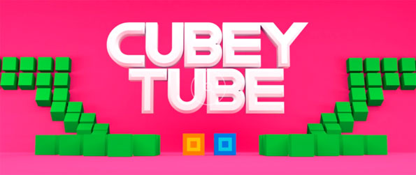 Cubey Tube - Take control of the rapidly moving cube using only your gaze while dodging other obstacles long the path in this exciting and fast-paced action casual game, Cubey Tube!