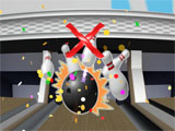 All pins cleared in Bowling VR