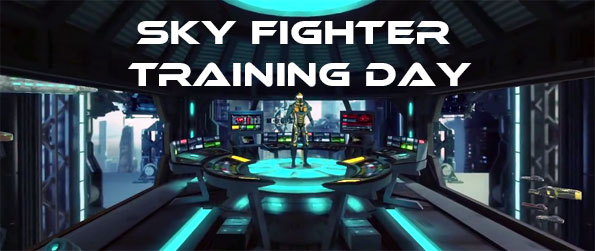 Sky Fighter: Training Day - Play as a Sky Fighter cadet and learn how to use your an armor that allows you to fly like Superman himself in this spectacular VR game, Sky Fighter: Training Day!